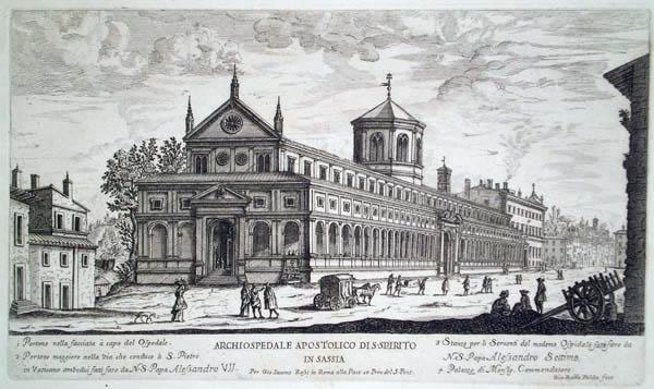 Giovambattista FALDA (Valduggia, 1648 – 1678) – ARCHOSPEDALE APOSTOLICO DI S. SPIRITO IN SASSIA