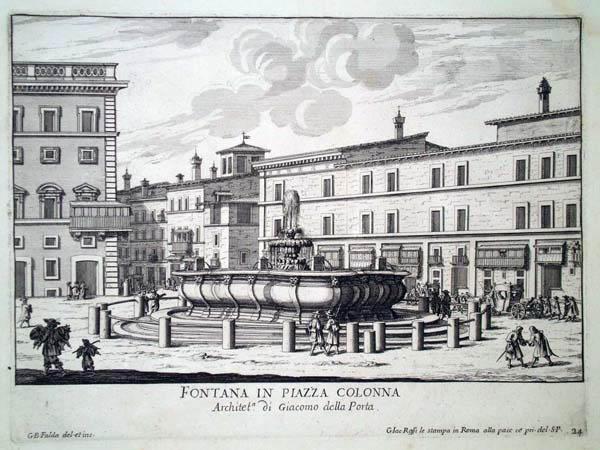 Giovambattista FALDA (Valduggia, 1648 – 1678) – FONTANA IN PIAZZA COLONNA