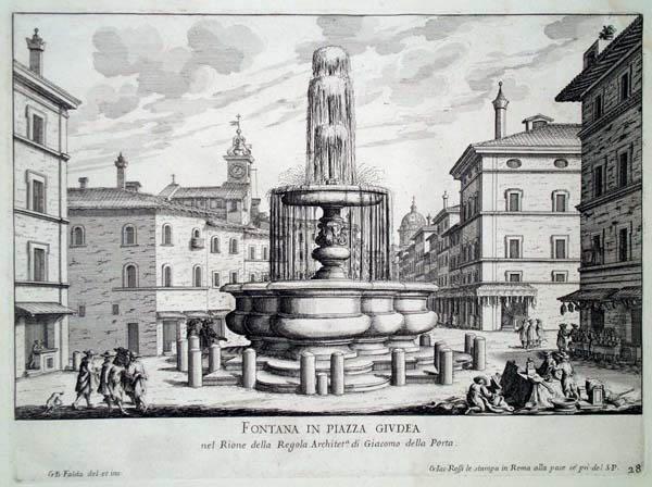 Giovambattista FALDA (Valduggia, 1648 – 1678) – FONTANA IN PIAZZA GIUDEA