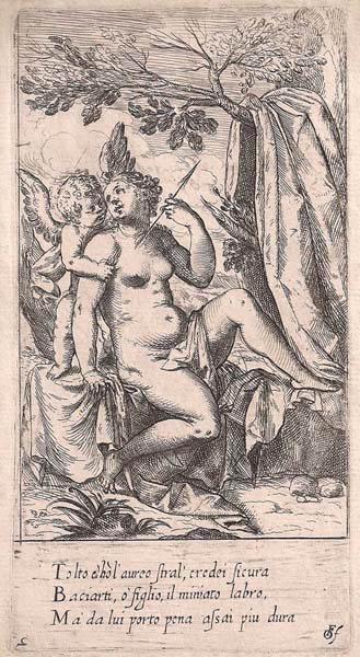 Odoardo FIALETTI (Bologna, 1573 – 1638) – VENERE CON FRECCE E AMORE