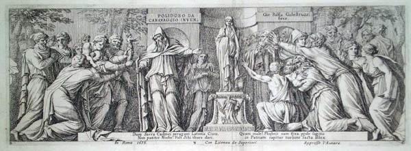 Giovan Battista GALESTRUZZI (Firenze, 1615 – 1669) – NIOBE ED APOLLO da Caravaggio