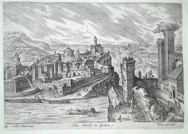 Philip GALLE (Olanda, 1537 – 1612) – FONS AEMILY IN GRAECIA da H. Cliven