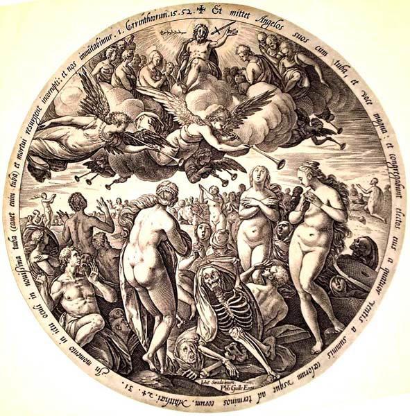 Hendrick GOLTZIUS (Olanda, 1558 – 1616) – LA RESURREZIONE DEI MORTI