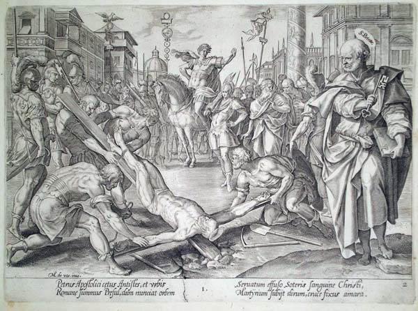 Hendrick GOLTZIUS (Olanda, 1558 – 1616) – IL MARTIRIO DI SAN PIETRO