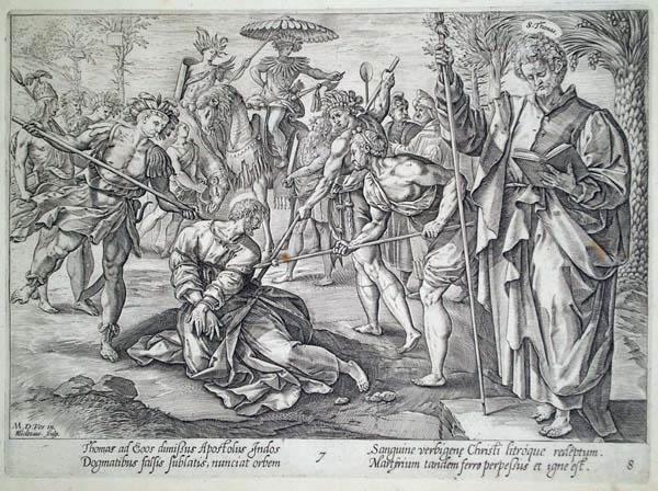 Hendrick GOLTZIUS (Olanda, 1558 – 1616) – IL MARTIRIO DI SAN TOMMASO