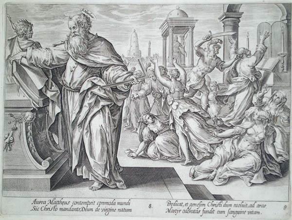 Hendrick GOLTZIUS (Olanda, 1558 – 1616) – IL MARTIRIO DI SAN MATTEO