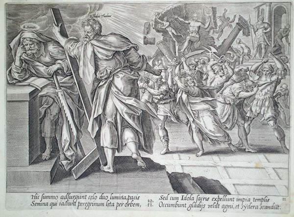 Hendrick GOLTZIUS (Olanda, 1558 – 1616) – IL MARTIRIO DI SAN SIMONE E GIUDA TADDEO