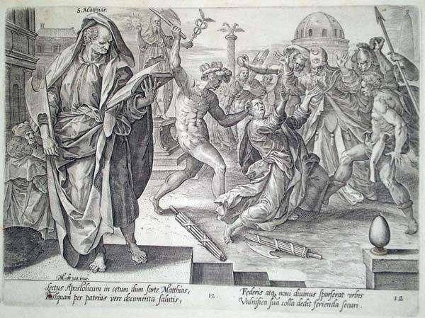Hendrick GOLTZIUS (Olanda, 1558 – 1616) – IL MARTIRIO DI SAN MATTIA