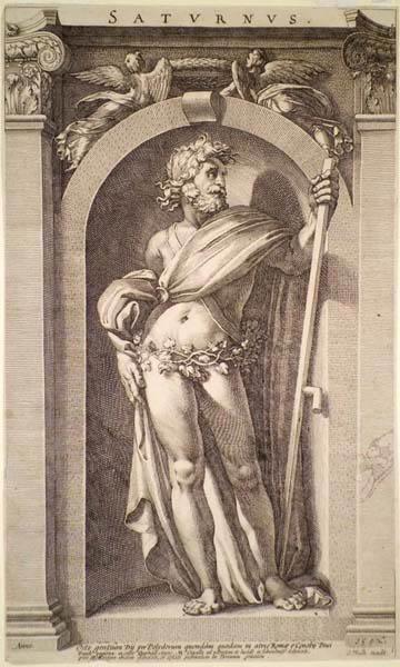 Hendrick GOLTZIUS (Olanda, 1558 – 1616) – SATURNUS