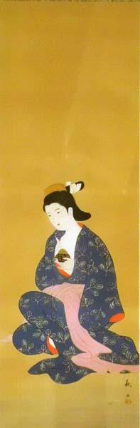 Matsuoka KANSUI (Giappone, 1830-1887) – RAGAZZA CON BRUCIATORE PER INCENSO