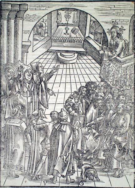 Urs GRAF (Svizzera, c.a 1485 – 1529) – CRISTO PREDICA NEL TEMPIO