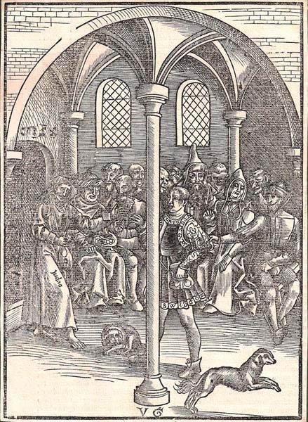 Urs GRAF (Svizzera, c.a 1485 – 1529) – GIUDA RICEVE I TRENTA DENARI