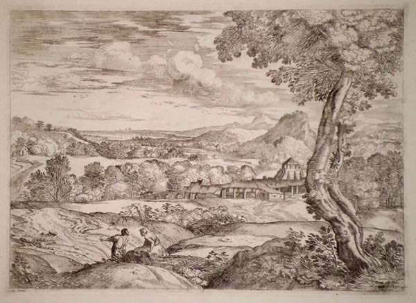 Giovanni Francesco GRIMALDI (Bologna, 1606 – 1680) – PAESAGGIO