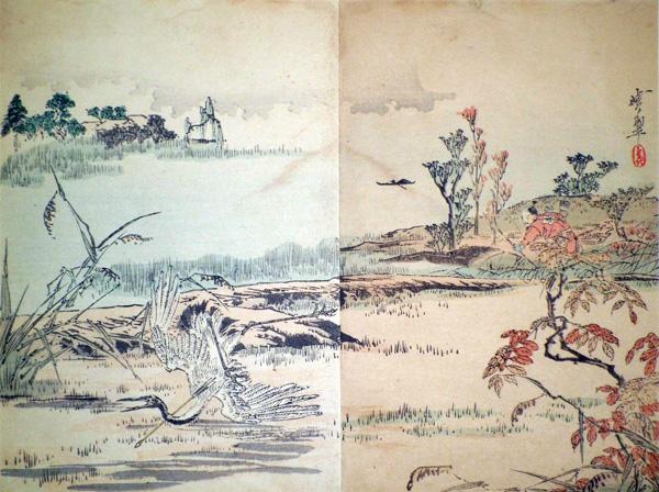 Kawanabe KYOSUI (Giappone, attivo fine XIX secolo) – L'UCCELLO FERITO