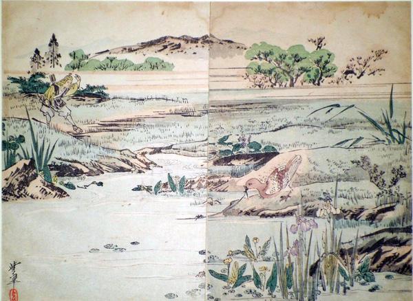 REISHO (Giappone, attivo inizi XX secolo) – ANATRE SELVATICHE IN UN CANNETO (1910/20)