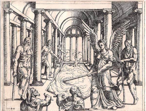 Augustin HIRSCHVOGEL (Norimberga, 1503 – 1553) – LA PROBATICA PISCINA (1548)