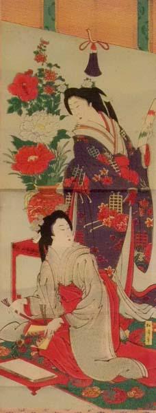 SHOSEN (attivo 1880-1920) – DUE CORTIGIANE