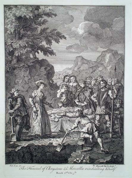William HOGARTH (Gran Bretagna, 1697 – 1764) – IL FUNERALE DI CRISOSTOMO