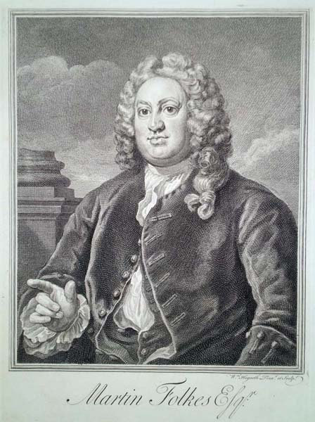 William HOGARTH (Gran Bretagna, 1697 – 1764) – MARTIN FOLKES (1742)