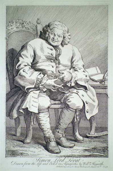 William HOGARTH (Gran Bretagna, 1697 – 1764) – LORD SIMON LOVAT (1746)