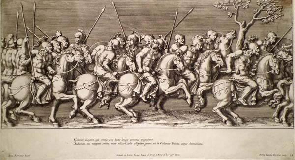 Pietro Sante BARTOLI (Perugia, 1635 circa – 1700) – CONTATI EQUITES da Giulio Romano