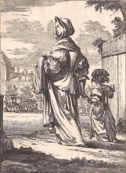 Romeyn de HOOGHE (Olanda, c.a 1645 – 1708) – MADRE E FIGLIA