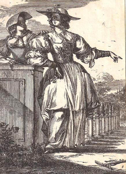 Romeyn de HOOGHE (Olanda, c.a 1645 – 1708) – DUE DONNE