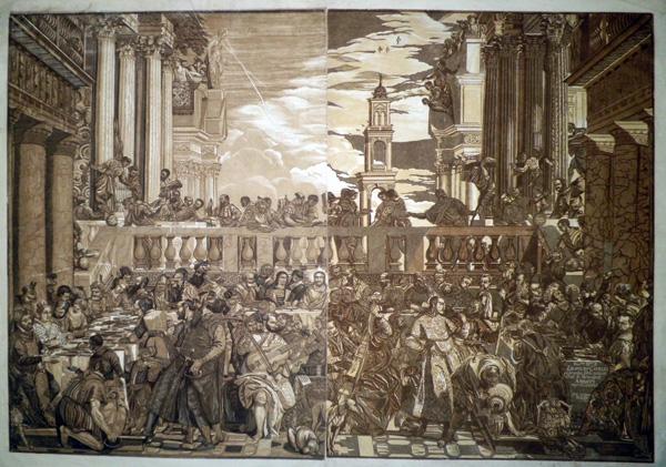 John Baptist JACKSON (Gran Bretagna, 1701 – 1780) – LE NOZZE DI CANA (1740) da P. Cagliari