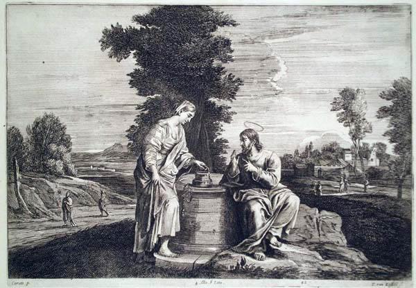 Theodor Van KESSEL (Olanda, c.a 1620 – c.a 1693) – GESÙ E LA SAMARITANA AL POZZO da Carats