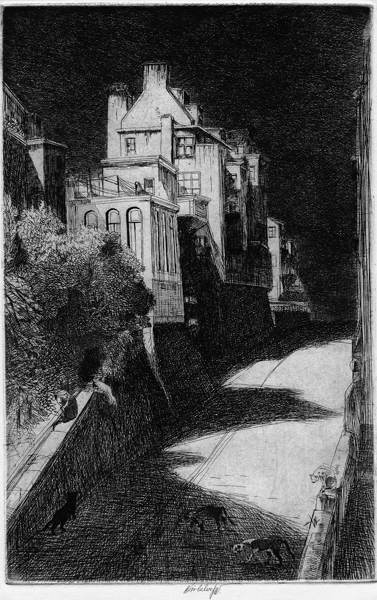 John W. WINKLER (Vienna, 1890 – 1979) – HAUNTED HOUSE (SALLY STANFORD HOUSE)