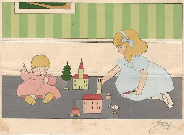 J. ROUF (Attivo inizi XX secolo) – JEUX D'ENFANTS (1925-30)