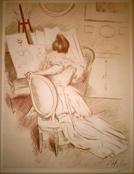 Paul César HELLEU (Francia, 1859 – 1927) – MANIFESTO PER SAGOT (1901 circa)