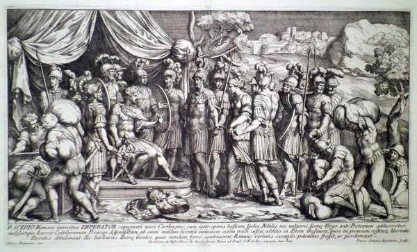 Pietro Sante BARTOLI (Perugia, 1635 circa – 1700) – LA CONTINENZA DI SCIPIONE