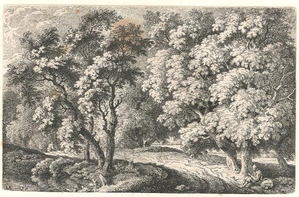Ferdinand KOBELL (Germania, 1740 – 1799) – VIANDANTE CHE SI RIPOSA (1775)