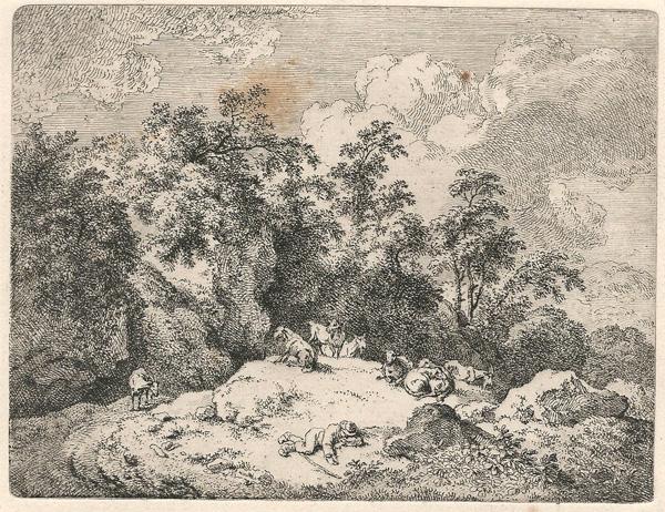 Ferdinand KOBELL (Germania, 1740 – 1799) – PASTORE ADDORMENTATO