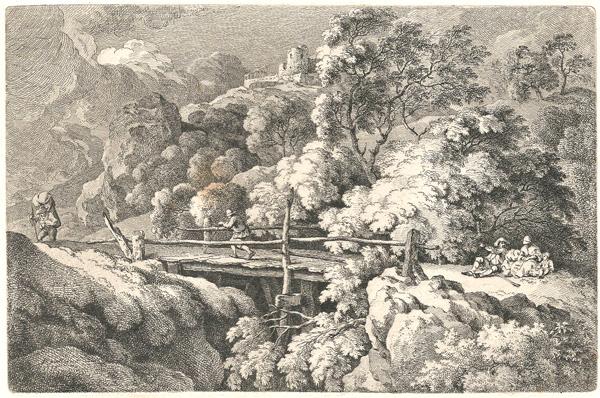 Ferdinand KOBELL (Germania, 1740 – 1799) – IL PONTICELLO DI LEGNO