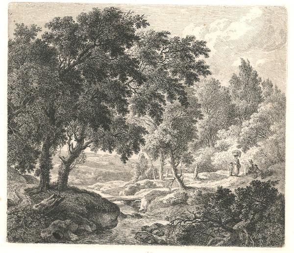 Ferdinand KOBELL (Germania, 1740 – 1799) – PAESAGGIO CON RUSCELLO