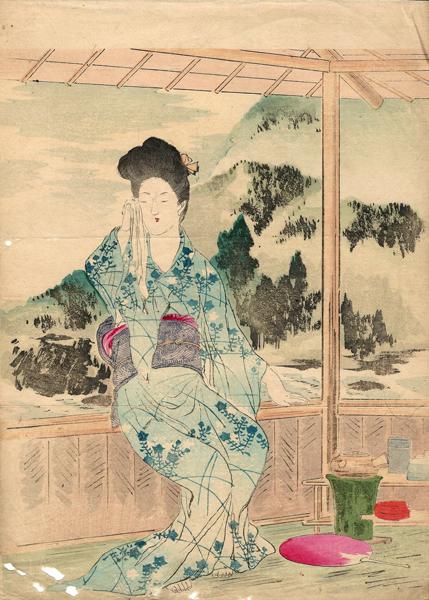Mishima SHOSO (1856 – 1928) – MONTAGNE VIOLA ED ACQUA PURA (1907)