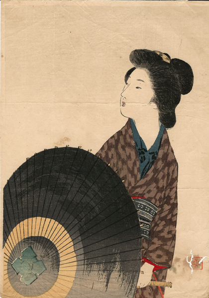 Takeuchi KEISHU (Giappone, 1861 – 1942) – L'INVITO (1910)