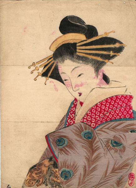 Takeuchi KEISHU (Giappone, 1861 – 1942) – YUGIRI (1911)