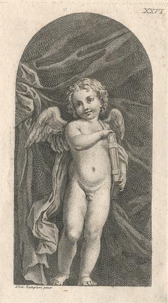 Francesco BARTOLOZZI (Firenze, 1727 – 1815) – PUTTO da Domenico Zampieri
