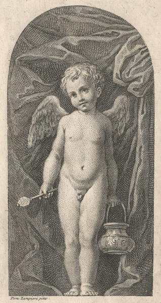 Francesco BARTOLOZZI (Firenze, 1727 – 1815) – PUTTO da Domenico Zampieri