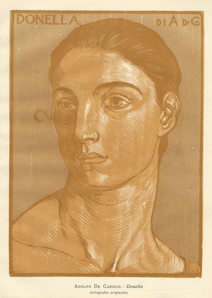 Adolfo DE CAROLIS (Montefiore, 1874 – 1928) – DONELLA (1917 circa)