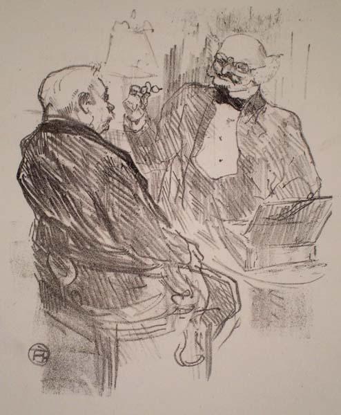 GEORGE CLEMENCEAU ET L'OCULISTE MAYER (1864) – de TOULOUSE-LAUTREC Henri