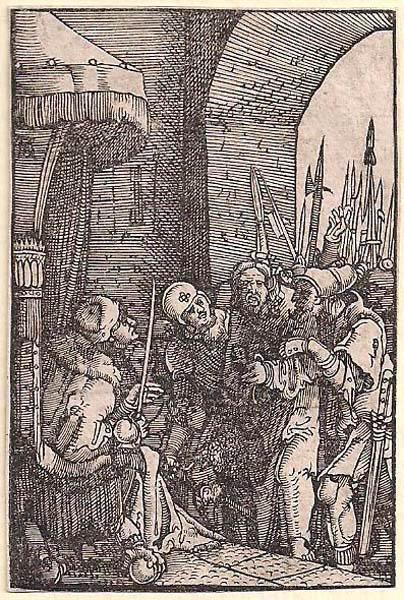 Albrecht ALTDORFER (Baviera, c.a 1480 – 1538) – CRISTO DAVANTI AD ERODE