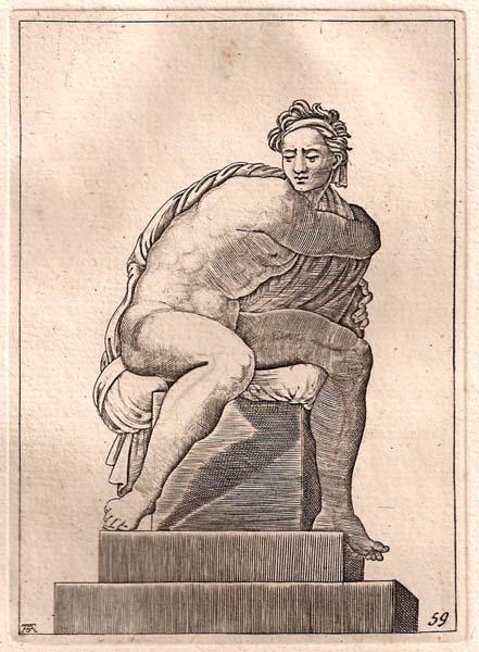 Adamo SCULTORI (Mantova, 1530 circa – 1585) – NUDO SEDUTO