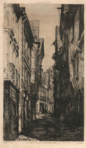 Jean-René-Pierre LITOUX (Francia, 1839 – 1903) – UNE RUE DE VITRÉ -BRETAGNE