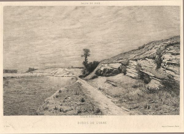 Léon DE BELLEE (Francia, 1846 – 1891) – BORDS DE L'ORNE