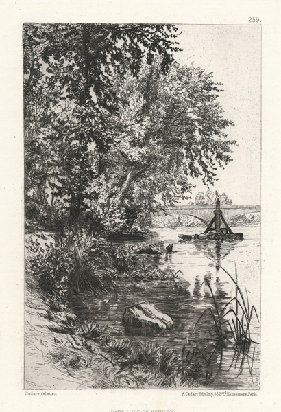 Antoine-Eugène-Ernest BUTTURA (Francia, 1841 – 1920) – DANS L'ILE DE NEUILLY