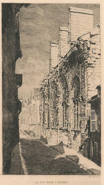Pierre Marcel ROY (Francia, 1874 – 1907) – LA RUE MOLÉ, A' TROYES